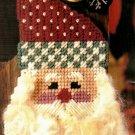 Y792 Plastic Canvas PATTERN ONLY Antique Santa Doorknob Hanger Christmas Pattern