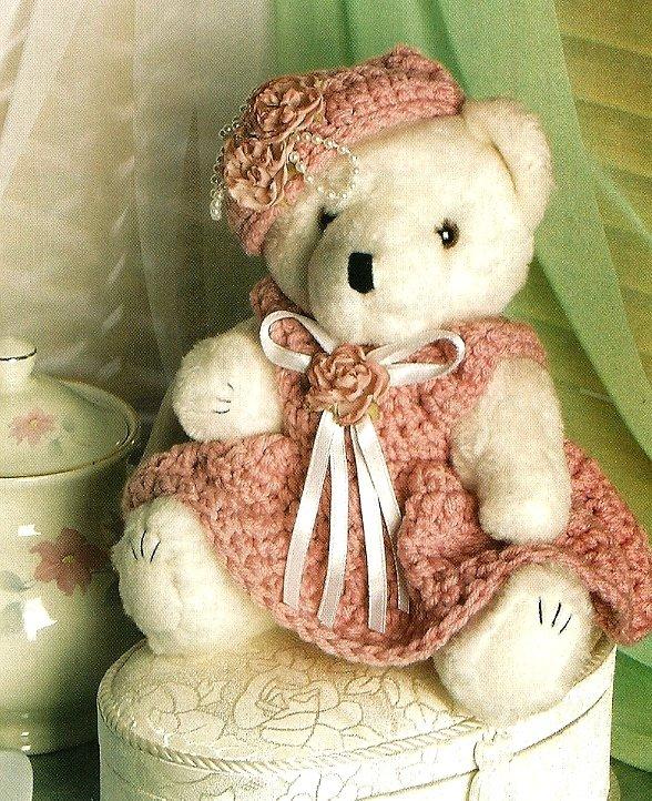 Y310 Crochet PATTERN ONLY Victorian Rose Teddy Bear Doll Toy Pattern