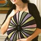 Y245 Crochet PATTERN ONLY Color Wheel Pillow Pattern