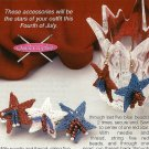 Y166 Crochet PATTERN ONLY Stars of America Pin and Earring plus Afghan
