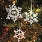 X216 Crochet PATTERN ONLY 6 Snowflake Pattern Christmas Ornaments