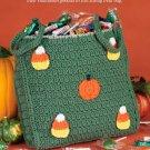 W242 Crochet PATTERN ONLY Halloween Treat Bag Tote Pattern