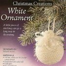 X270 Crochet PATTERN ONLY Cord White Christmas Ornament Cover Pattern