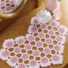 W147 Crochet PATTERN ONLY Floral Heart Doily Pattern