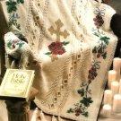 X103 Crochet PATTERN ONLY Victorian Cross Afghan Pattern