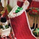 Y908 Crochet PATTERN ONLY Misteltoe Christmas Stocking Pattern