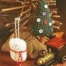 X928 Crochet PATTERN ONLY 2 Christmas Wonderland Ornament Snowman & Tree