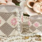 W070 Crochet PATTERN ONLY Diamond Motif Trinket Baskets Patterns
