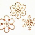 Y676 Crochet PATTERN ONLY 3 Crochet & Beaded Snowflake Christmas Ornaments