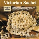 Y655 Crochet PATTERN ONLY Five Sided Victorian Floral Sachet Pattern