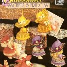 X690 Crochet PATTERN ONLY Sunbonnet Sachets & Fridgies Doll 7 Designs 1997
