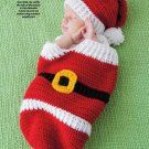 Y903 Crochet PATTERN ONLY Santa Christmas Baby Cocoon & Hat Pattern