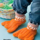 Y008 Crochet PATTERN ONLY Duck Feet Only Adult or Baby Slipper Bootie Patterns