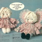 Y922 Sewing PATTERN ONLY Three Sock Sally Soft Body Angel Doll & Clothes Pattern