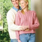W128 Crochet PATTERN ONLY Friendship Pullover Sweater Patterns Men Women