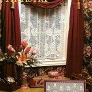 Y695 Crochet PATTERN ONLY Rose Café Curtain Pattern
