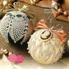 Y072 Crochet PATTERN ONLY 2 Old-Fashioned Christmas Ball Ornaments and Mittens