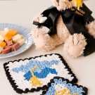 X212 Crochet PATTERN ONLY Graduation Hot Pad & Coasters Pattern Set