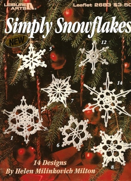 X952 Crochet PATTERN ONLY Simply Snowflakes Christmas Ornament