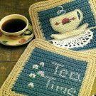 Y950 Crochet PATTERN ONLY Tea Time Pot Holders Potholder Patterns
