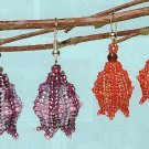 X575 Bead PATTERN ONLY Beaded Flame Tree Flower Earrings Pattern