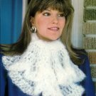 Y883 Crochet PATTERN ONLY Angelspun Ascot & Filet Snowflower Scarf Patterns