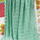 W379 Crochet PATTERN ONLY Tunisian Shells Baby Blanket Afghan Pattern