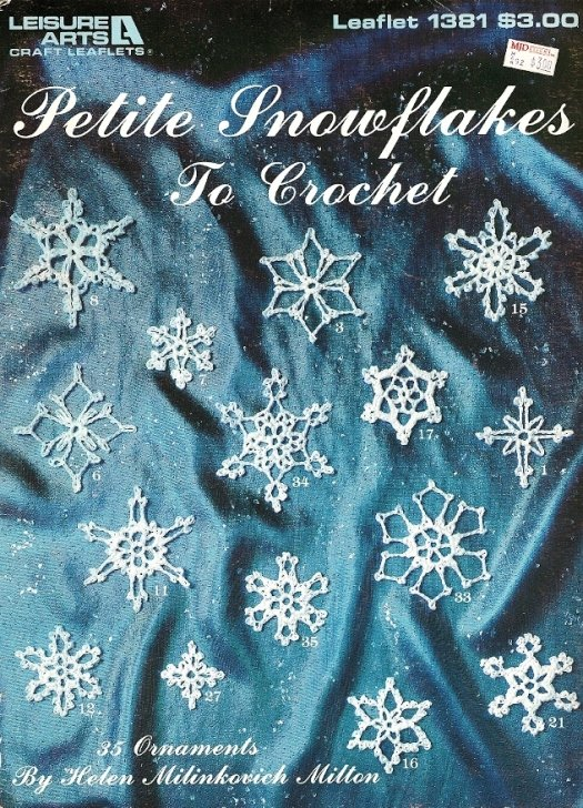 X404 Crochet PATTERN ONLY Petite Snowflakes to Crochet Christmas Ornaments