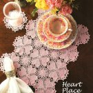 X708 Crochet PATTERN ONLY Heart Motif Placemat & Coaster Pattern