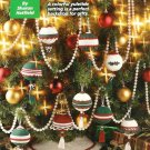 X713 Crochet PATTERN ONLY Christmas Tree Skirt & 9 Ornament Covers