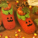 X822 Crochet PATTERN ONLY Halloween Jack-O-Lantern Pumpkin Baby Booties