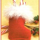 X990 Crochet PATTERN ONLY Santas Boot Stocking Christmas Ornament