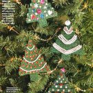 X927 Crochet PATTERN ONLY Christmas Ornament Trees Snowman Gingerbread Stocking