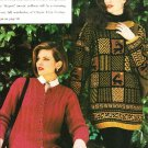 X883 Knit PATTERN ONLY Ribbed Cardigan & Mosaic Pullover Sweater