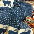 Y705 Crochet PATTERN ONLY Reindeer in the Snow Afghan Throw Pattern