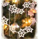 Y557 Crochet PATTERN ONLY Let it Snow Snowflake Garland Christmas Ornaments