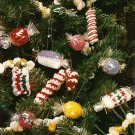 Y555 Crochet PATTERN ONLY Vision of Sugarplums Candy Shaped Christmas Ornaments