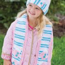 W458 Crochet PATTERN ONLY Child Size Snuggly Snowman Scarf & Hat Pattern
