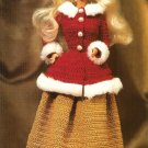 X673 Crochet PATTERN ONLY Winter Wonderland Fashion Doll Barbie Ensemble