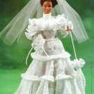 Y183 Crochet PATTERN ONLY Turn-of-the-Century Fashion Doll Bride Gown Parasol