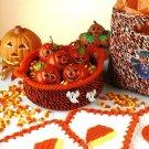W522 Crochet PATTERN ONLY Halloween Basket Coasters Hot Pad Set Patterns