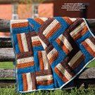 W593 Crochet PATTERN ONLY Quilt Look Fence Rail Afghan Pattern