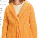W574 Crochet PATTERN ONLY Sunshine in Winter Child Size Jacket Pattern