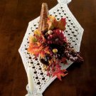 W557 Crochet PATTERN ONLY Crystal Eyelet Table Runner Pattern
