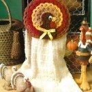 W524 Crochet PATTERN ONLY Thanksgiving Turkey Towel Holder Pattern