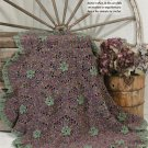 W686 Crochet PATTERN ONLY Pretty Portable Floral Afghan Pattern