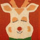 W476 Crochet PATTERN ONLY Rudolph Reindeer Rug Pattern Christmas