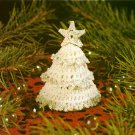 W485 Crochet PATTERN ONLY Tiny Christmas Tree Ornament Pattern Miniature