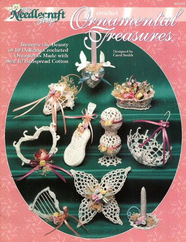 W489 Crochet PATTERN Book ONLY Ornamental Treasures Ornaments Patterns