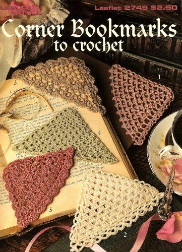 W490 Crochet PATTERN Book ONLY 5 Crochet Corner Bookmarks Patterns